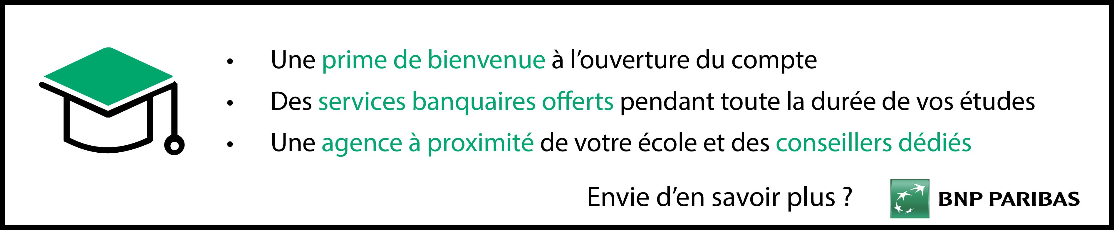 Offre étudiant de notre partenaire BNP Paris